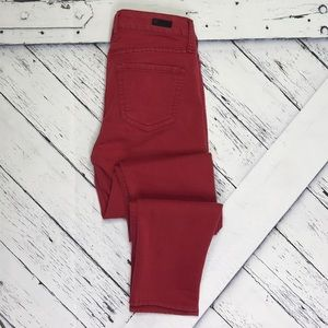KUT FROM THE KLOTH Diana Skinny Jeans Dark Red